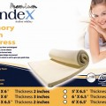 Syndex Memory Foam Topper size 152*198* thick 5 cms 0